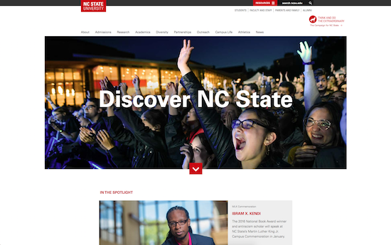 North Carolina State University website