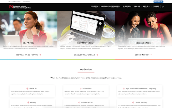 Northeastern IT Services microsite