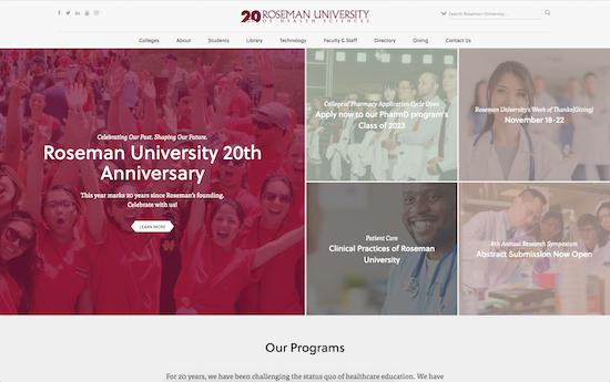 Roseman University website
