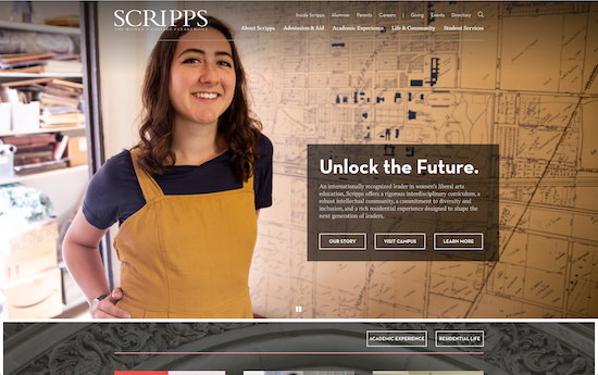 Scripps College website
