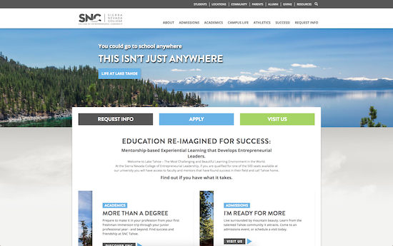 Sierra Nevada College website