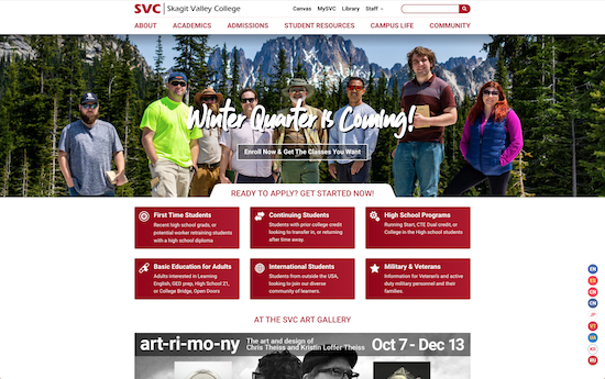 Skagit Valley College website