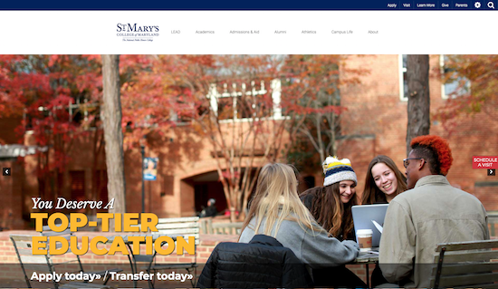 St. Mary's College of Maryland website
