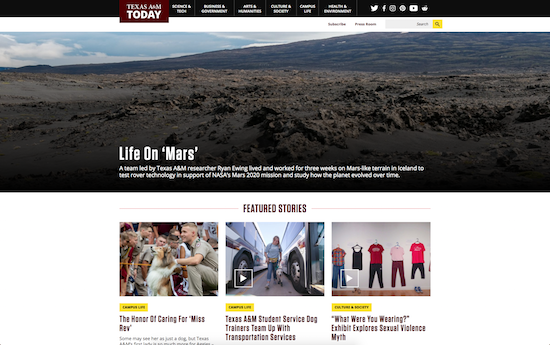 Texas A&M Today – news microsite