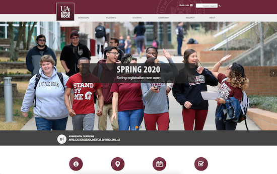 University of Arkansas Little Rock website