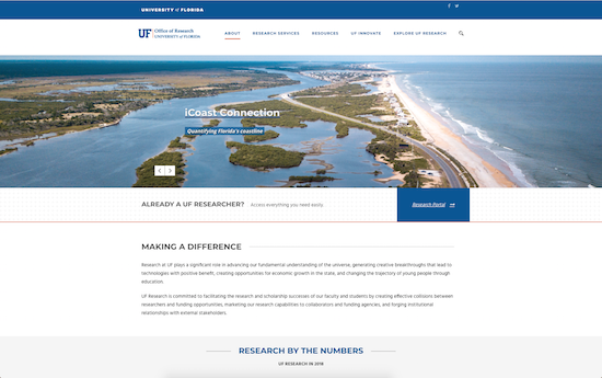 University of Florida Office of Research microsite