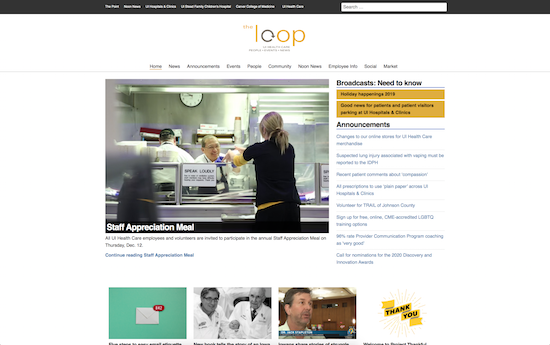 University of Iowa medcom microsite