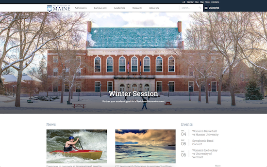 University of Maine website