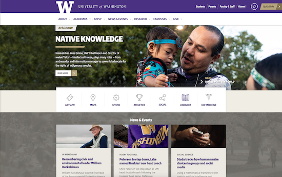 University of Washington homepage