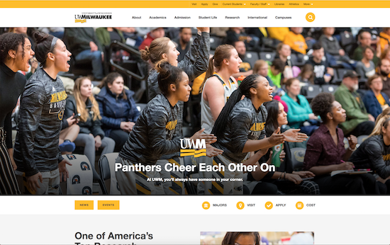 University of Wisconsin-Milwaukee website