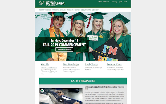 University of South Florida at St. Petersburg website