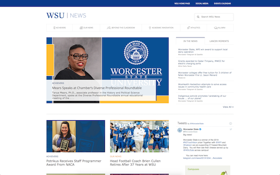 Worcester State University news microsite