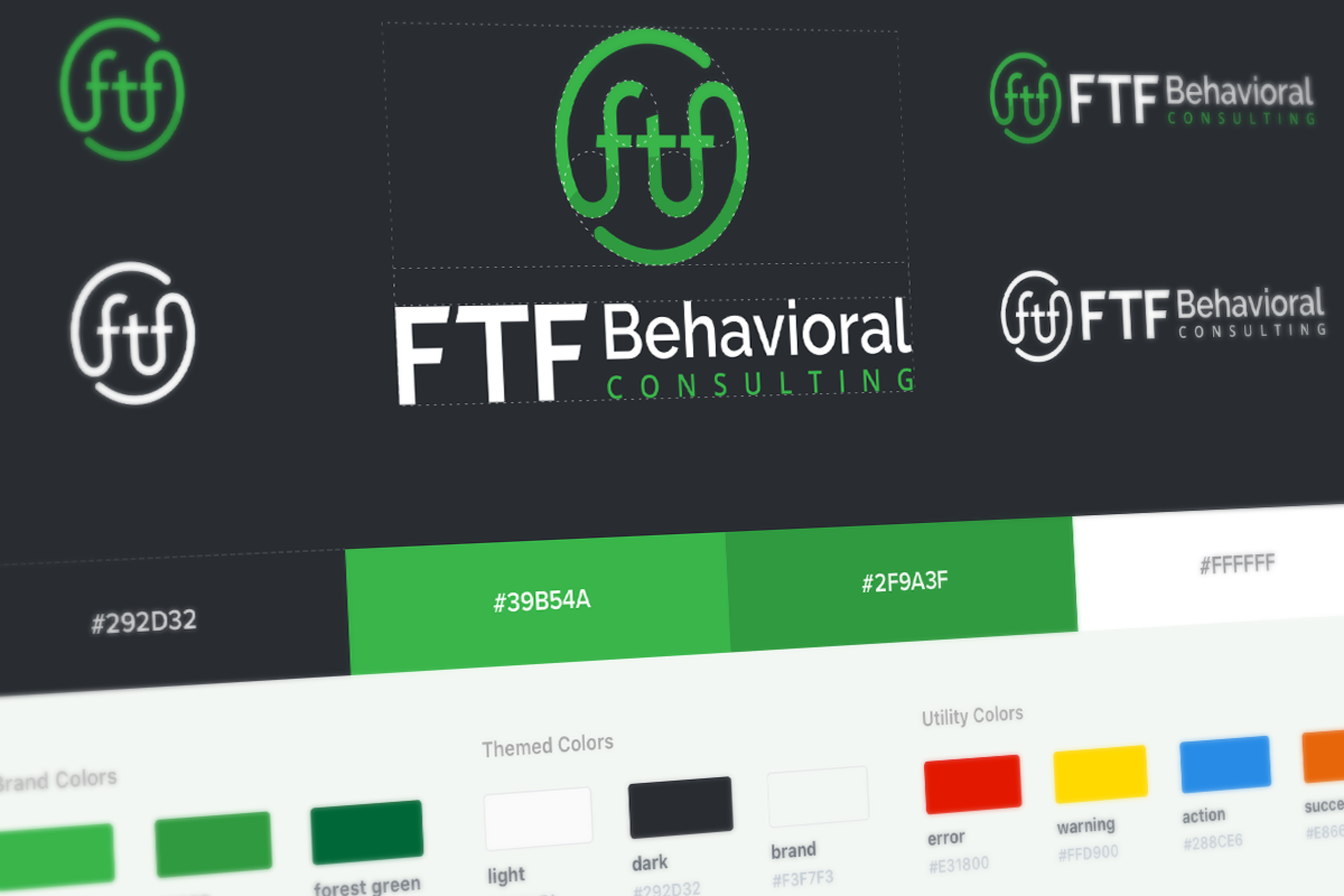 Image of FTF's final branding and color theme