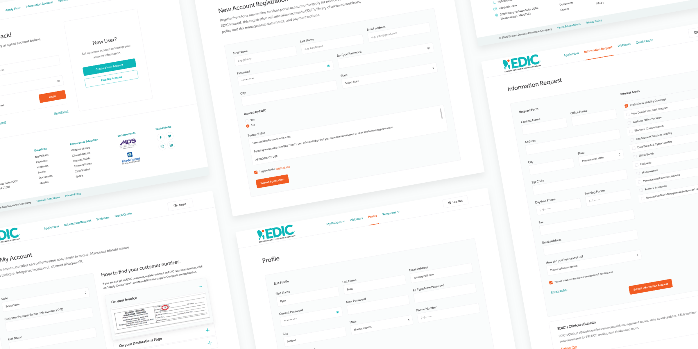 EDIC portal screen image