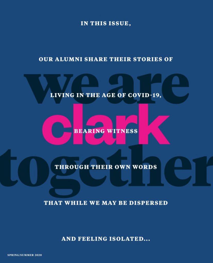 Clark University alumni magazine crisis messaging