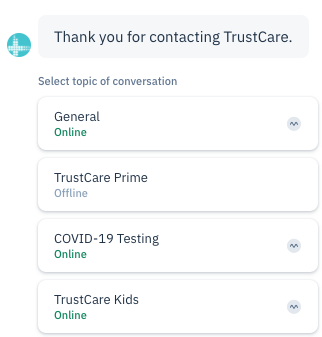 chatbot on healthcare website