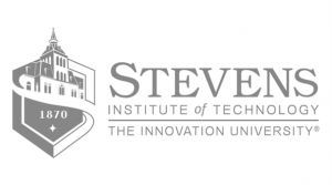 Stevens institute of technology logo in greyscale- our clients